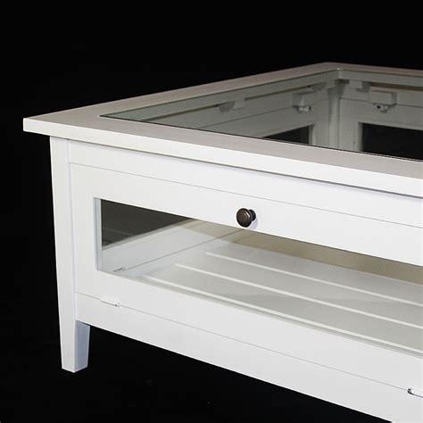 bureau en plexiglas table basse bois massif blanche avec plateau verre made
