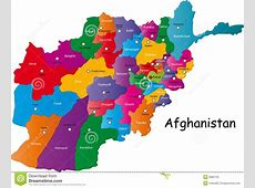 Vector Afghanistan Map Stock Photos Image 6982723