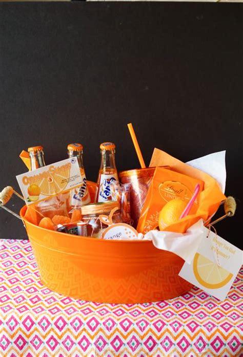 diy teacher gift orange  glad  summer activities