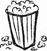 Doodle Popcorn Depositphotos Dusan964 sketch template