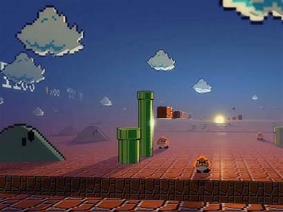 Mario Super Background Wallpapers Desktop Abstract 3d