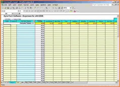 business expense  income spreadsheetexcel  image