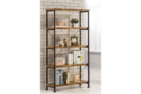 Barritt Wood And Metal Open Bookcase