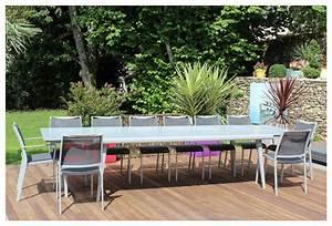 Table De Jardin Aluminium 12 Personnes : table et chaise de jardin 12 personnes ~ Edinachiropracticcenter.com Idées de Décoration