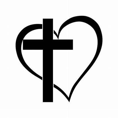 Cross Clipart Heart Above Printable Coloring Pages