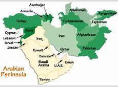 Arabian Peninsula Map, Arabian Peninsula Information
