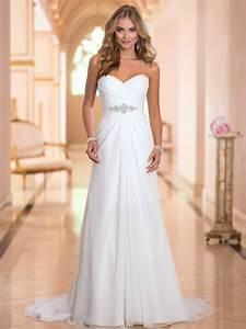 vestidos de novia sexy chiffon beach wedding dress vintage With wedding dresses online us