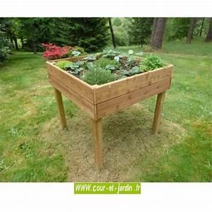 Geotextile Pour Carré Potager : table potag re bois jardini re bac planter carr potager sur lev ~ Melissatoandfro.com Idées de Décoration