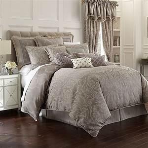 Waterford, U00ae, Montaigne, Reversible, Comforter, Set, In, Platinum