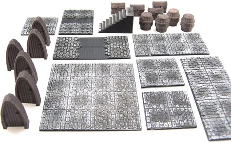 3d printed modular dungeon tiles core set by dutchmogul