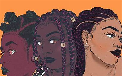 Hair Natural Pop Cartoon Wallpapers Hairstyles Illustrator