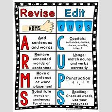 Revising And Editing Chart Arms & Cups Set By Undercover Classroom