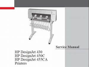 Hp Designjet 430  450c  455ca Plotters Service Manual