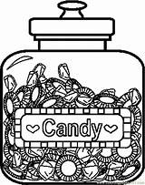 Coloring Candy Pages Jar Template Printable Apple Coloringpages101 Food Templates sketch template