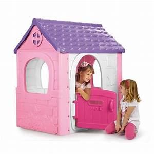 feber maison d39exterieur fantasy house rose achat With maison d enfant exterieur