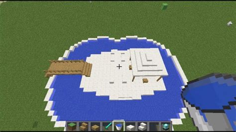 minecraft modern interior swimming pool design   modern house youtube