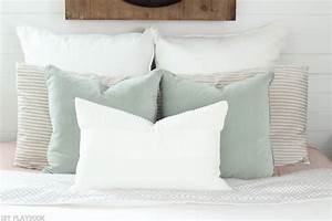how to arrange euro shams on your bed diy playbook With big euro pillows