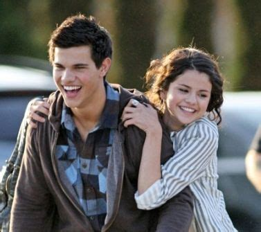 Taylor Lautner and Selena Gomez... way cuter than her and ...