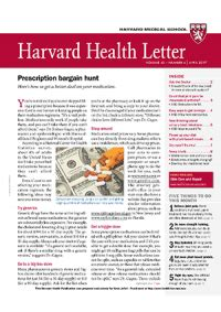 harvard health letter خبرنامه harvard health letter april 2017 22099 | 622