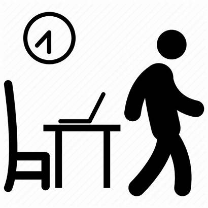 Office Icon Leaving Finish Leave Employee Done