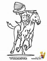 Coloring Indian Warrior Cowboy Pages Colouring Sheets Cowboys Em Ride Sheet Yescoloring Boys Headdress Warrio sketch template