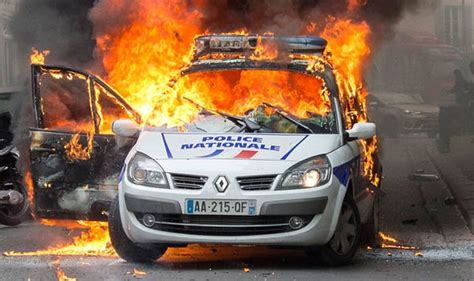 Police Car Set On Fire With Officers Inside