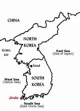 Korea Map South Outline North Sea Jindo Korean Coloring Geography Seoul Pages China Peninsula War Maps Country Intro Sketch Japan sketch template