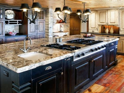 kitchen with cooktop in island kitchen island with
