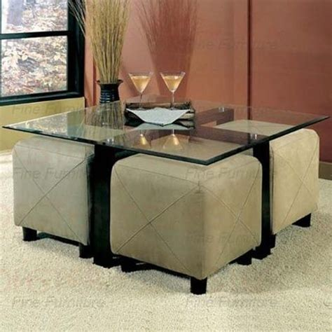 glass ottoman coffee table coffee table ottoman with seating glass coffee table and