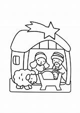 Crib Coloring Christmas Pages Children Simple Printable Justcolor sketch template