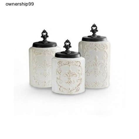 White Ceramic Kitchen Canisters by Ceramic Canister Set White Kitchen Canisters Storage Flour