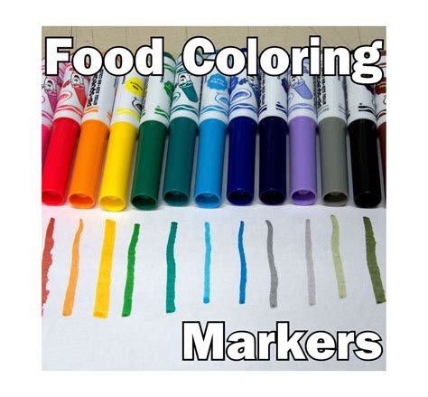 food coloring markers  steps  pictures