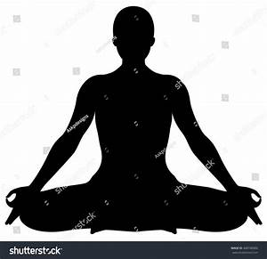Vector Yoga Lotus Position Silhouette 스톡 벡터 468740000 ...