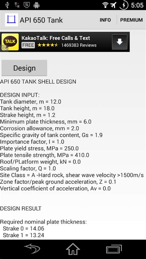 API 650 Tank Design - Android Apps on Google Play