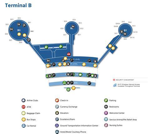 Newark Liberty International Airport Map Printable