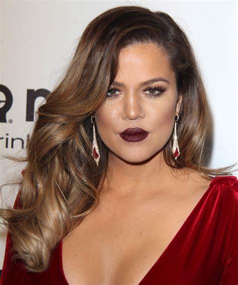 Khloe Kardashian Long Wavy Chestnut Brunette Hairstyle