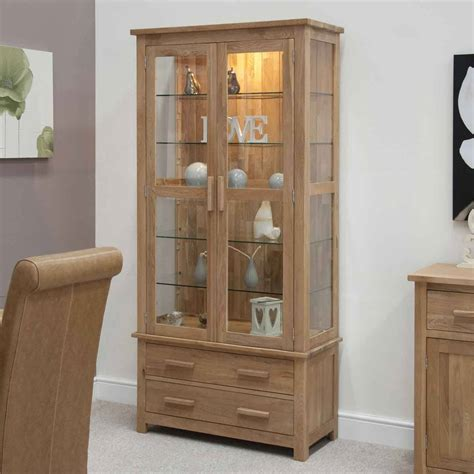 glass for cabinets opus oak glass display cabinet modern oak glass display