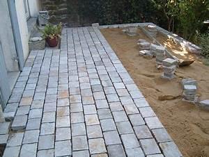 terrasse en pavesbordure terrasse pinterest With faire une terrasse en pave