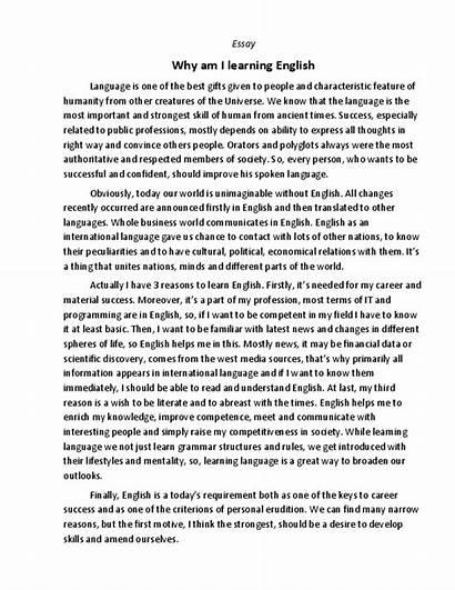 English Essay Learning Why Learn Am Did