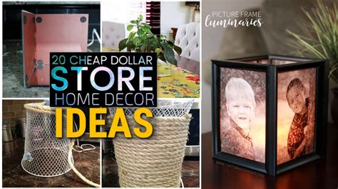 20 Cheap Diy Dollar Store Decor Ideas  Youtube