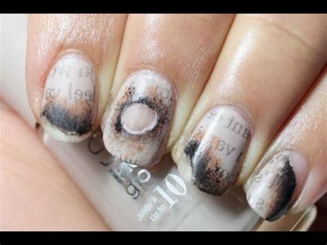 burned newspaper nail art youtube