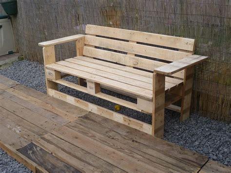 banc canapé canapé chaise banc un meuble en palette pour tous