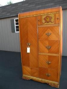 Armoire Art Deco : antique art deco waterfall armoire wardrobe closet 375 look familiar susan pinterest ~ Melissatoandfro.com Idées de Décoration