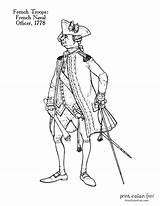 Revolutionary Uniforms Solder sketch template
