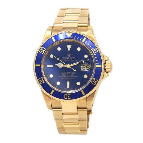 Rolex Submariner (A Serial) 18k Yellow Gold Automatic Men ...