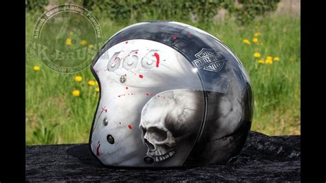 motorradhelm harley davidson airbrush motorradhelm diesel motive harley davidson 666 bloody skulls bali chapter