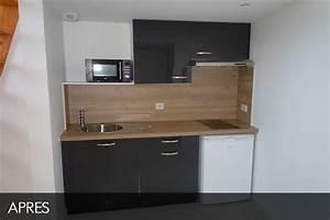 Kitchenette Pour Studio : am nagement exceptionnel d 39 une mezzanine ~ Premium-room.com Idées de Décoration