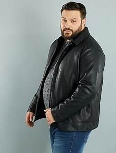 Blouson Grande Taille Homme : blouson zipp en simili grande taille homme noir kiabi 55 00 ~ Medecine-chirurgie-esthetiques.com Avis de Voitures