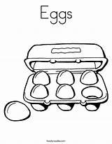 Eggs Coloring Carton Built California Usa Twistynoodle sketch template