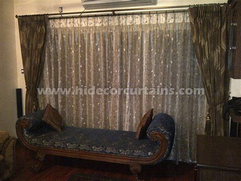 curtain double rods rooms